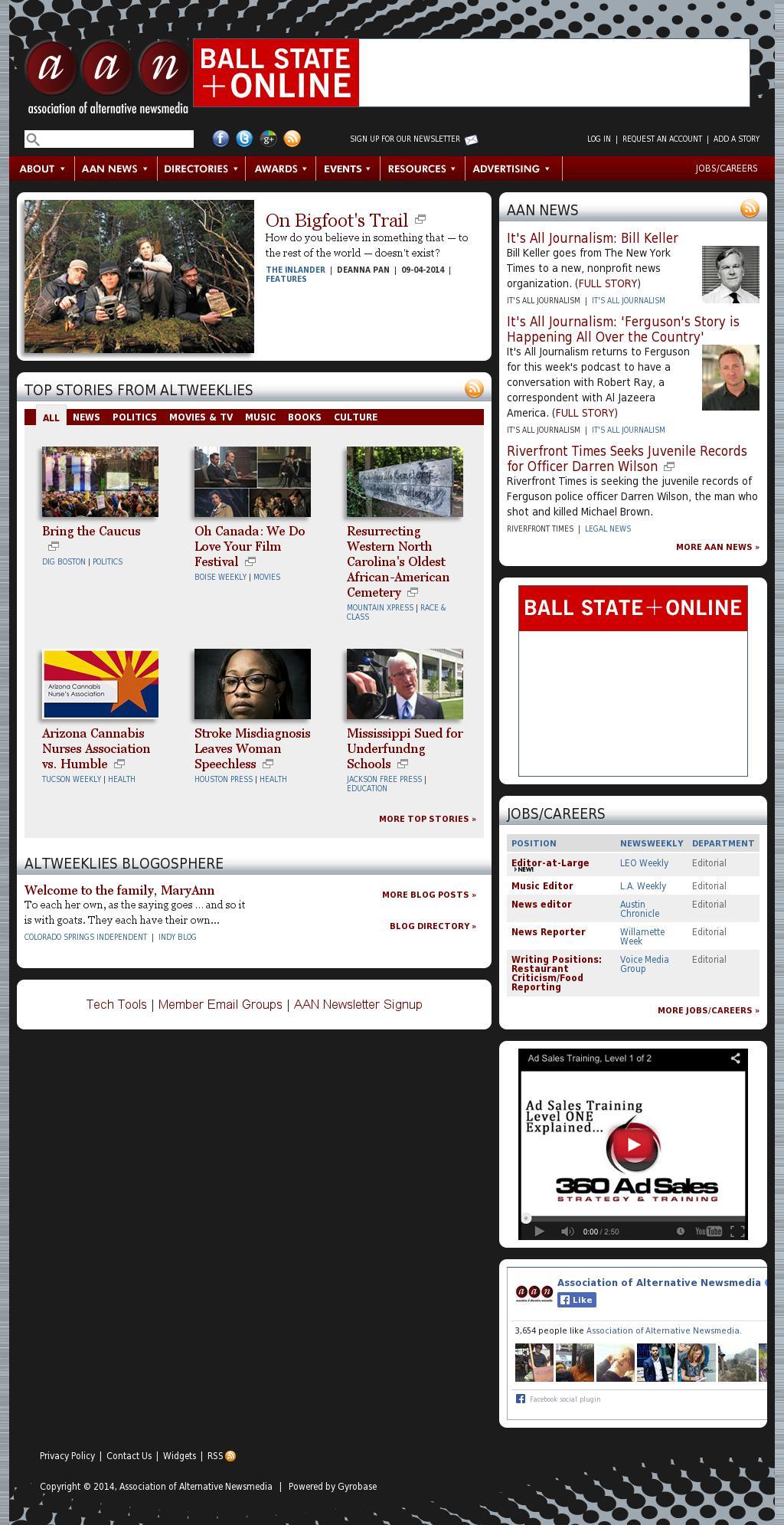Association of Alternative Newsmedia at Monday Sept. 8, 2014, 5 a.m. UTC