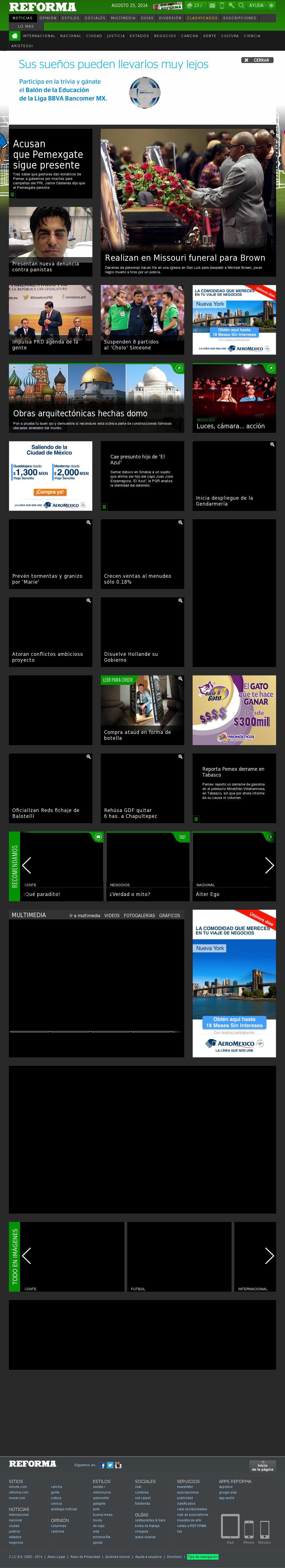 Reforma.com at Monday Aug. 25, 2014, 5:19 p.m. UTC