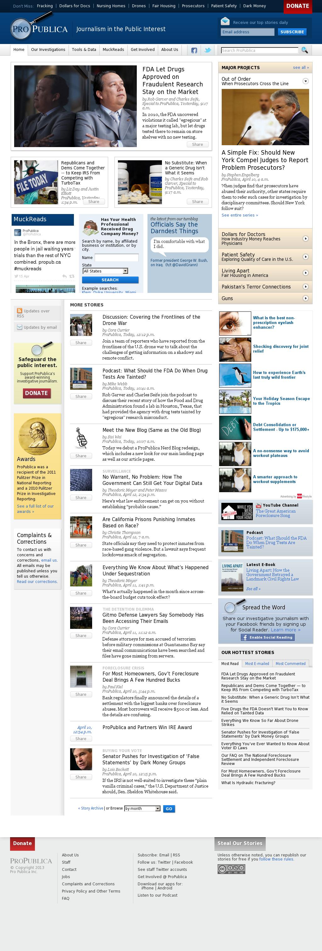 ProPublica at Wednesday April 17, 2013, 2:19 a.m. UTC