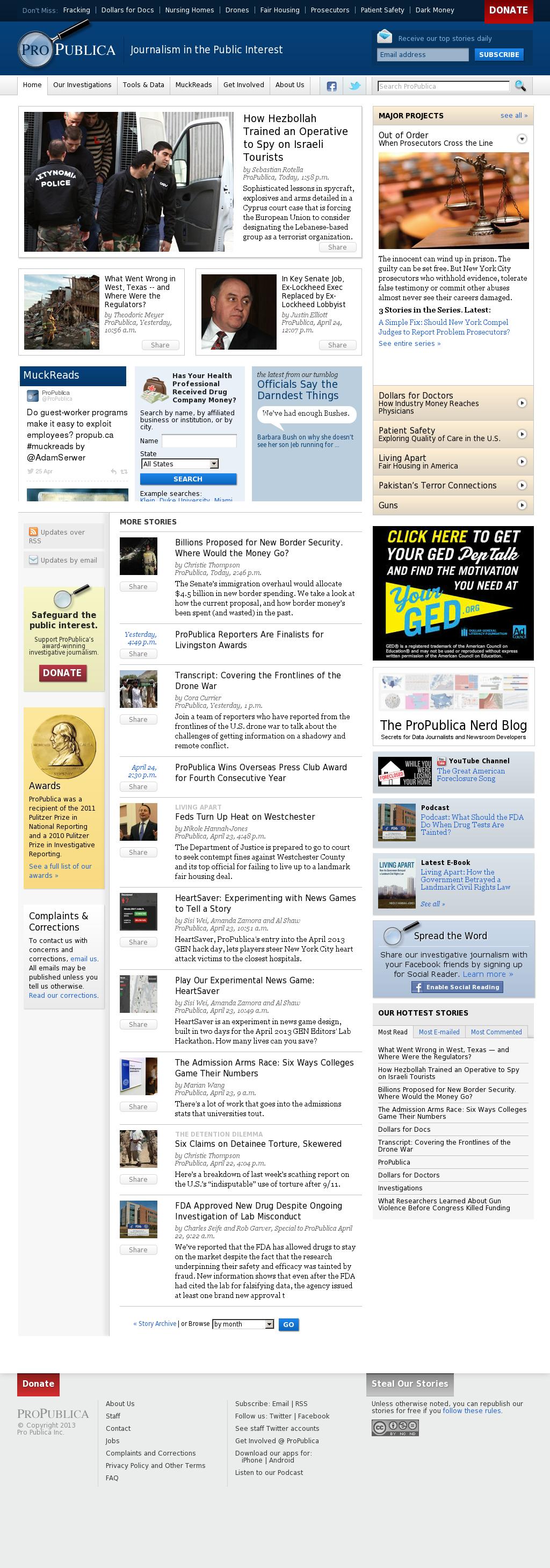 ProPublica at Saturday April 27, 2013, 12:18 a.m. UTC