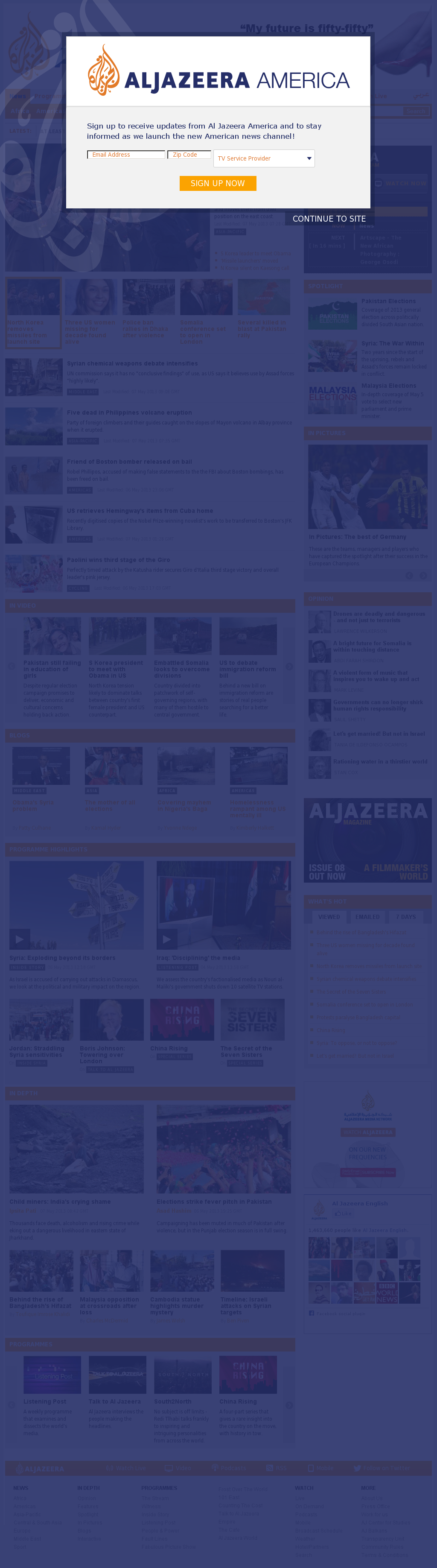 Al Jazeera (English) at Tuesday May 7, 2013, 9:15 a.m. UTC
