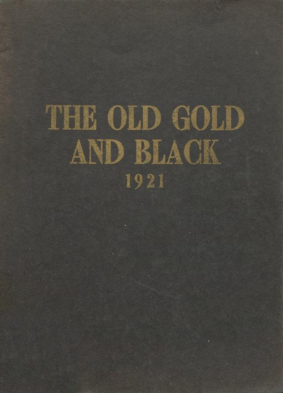 Cover for Clinton High School Yearbook the Old Gold and Black, 1921