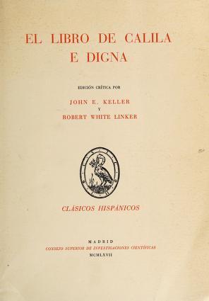 Cover of: El libro de Calila e Digna   John Esten Keller