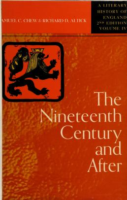 Cover of: A literary history of England | Albert Croll Baugh
